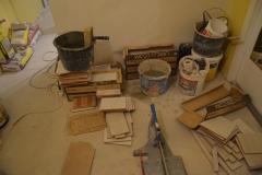 Obklady vany - část materiálu