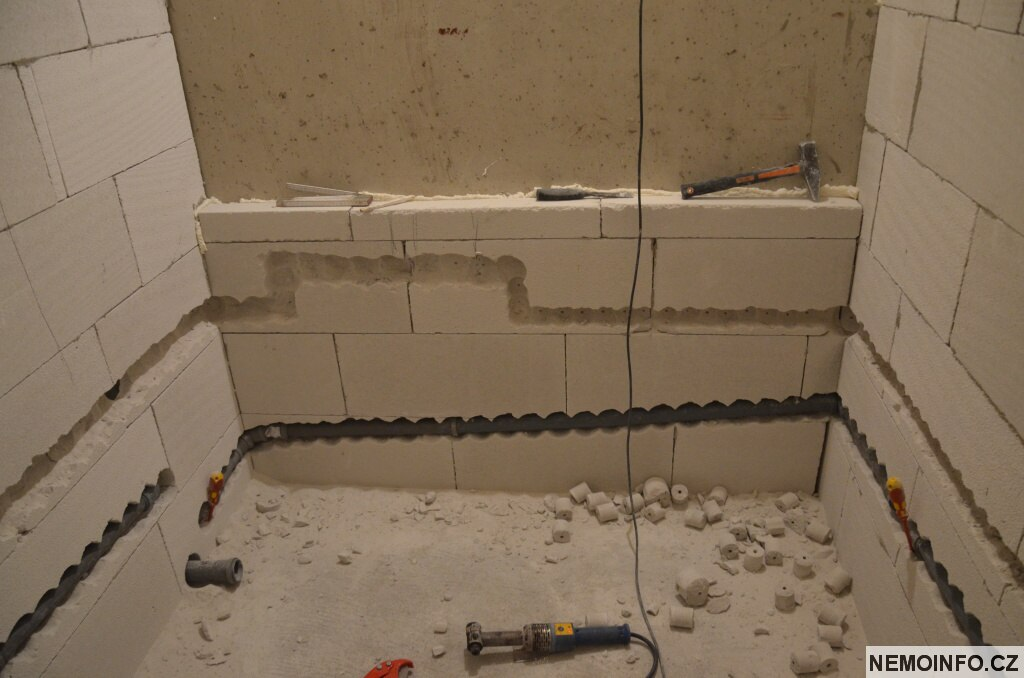 Rekonstrukce koupelny - rozvody vody