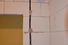 Rekonstrukce koupelny - elektrika 2