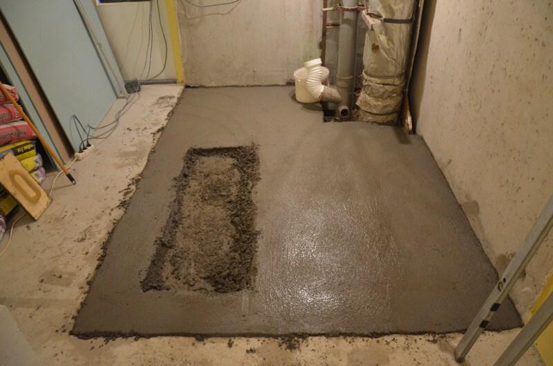 podlaha v koupelně betonování 2