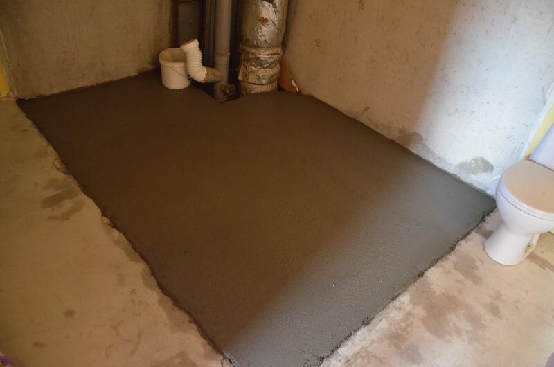 podlaha v koupelně betonování 3