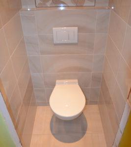 Závěsné wc Alca Plast je nainstalováno