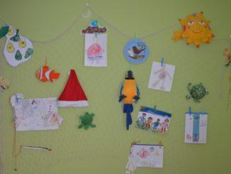 dekorační síť na zeď