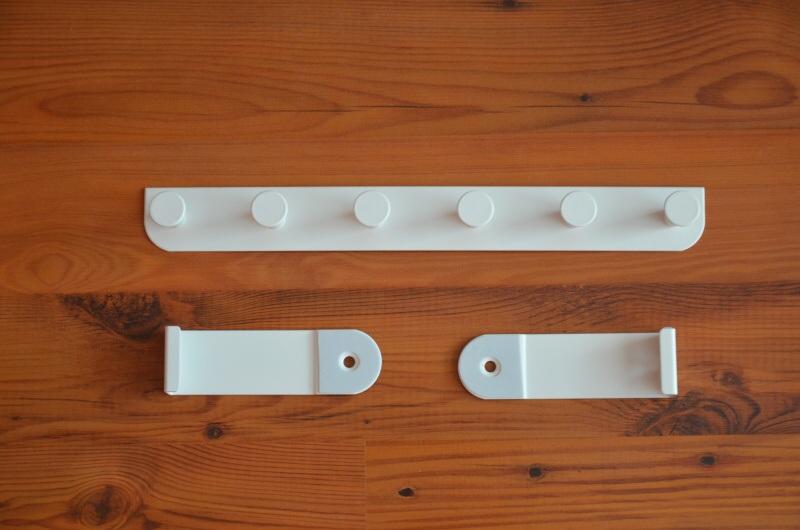 Vešák na dveře závěsný, bílý, kovový Ikea 3