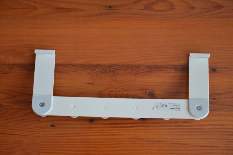 Vešák na dveře závěsný, bílý, kovový Ikea 4