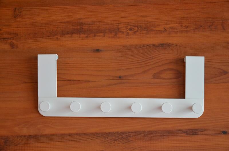 Vešák na dveře závěsný, bílý, kovový Ikea 5